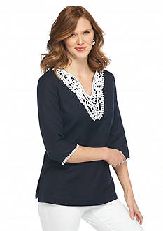 Grace Elements Solid Linen Tunic Top