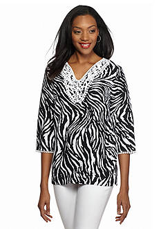 Grace Elements Zebra Print Linen Tunic
