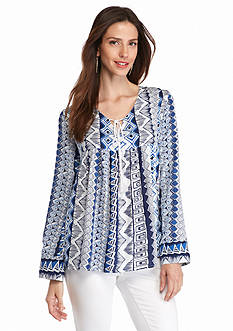 Grace Elements Tribal Printed Blouse