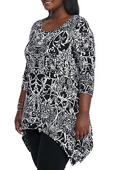 Grace Elements Plus Size Wrought Trellis Tunic