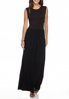 Grace Elements Textured Bottom Maxi Dress