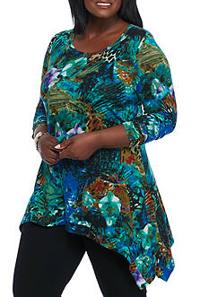 Grace Elements Plus Size Amazon Rain Forest Tunic