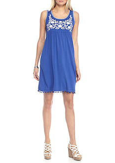Grace Elements Sleeveless Embroidered Dress