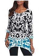 Grace Elements Trellis Print Sharkbite Tunic