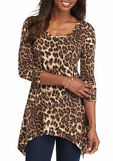 Grace Elements Bangalore Leopard Print Top