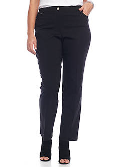 Grace Elements Plus Size Pull-On Ponte Slim Pant