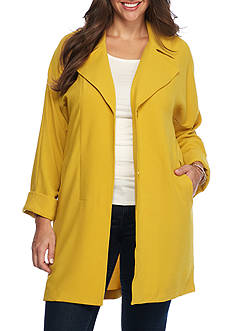 Grace Elements Plus Size Collared Coat