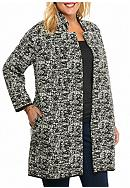 Grace Elements Plus Size Bracelet Sleeve Cardigan
