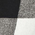 Statements: Grace Elements: Black/Ivory Grace Elements Buffalo Plaid Jacket