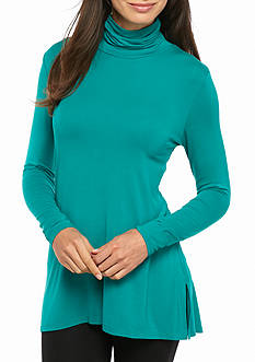 Grace Elements Swing Shark Bite Turtle Neck Top
