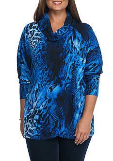 Grace Elements Plus Size Cowl Neck Sweater