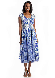 Grace Elements Water Ikat Peasant Dress