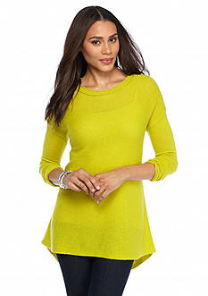 Ply Cashmere™ Cashmere Scoop Neck Tunic