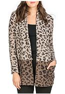 Premise Cashmere Cashmere Printed Open Cardigan