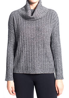 Premise Cashmere Cashmere Ribbed Cowl Neck Pullover