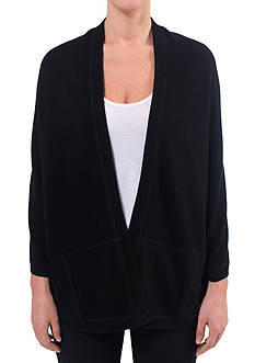Ply Cashmere™ Open Front Cape With Coverstitch