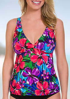 Caribbean Joe Tropical Punch Surplice V-Neck Tankini