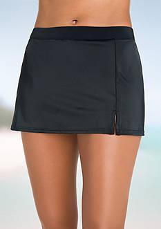 Caribbean Joe Side Slit Skirt Swim Bottom