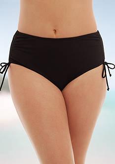 Caribbean Joe Plus Size Tummy Control Brief Swim Bottom
