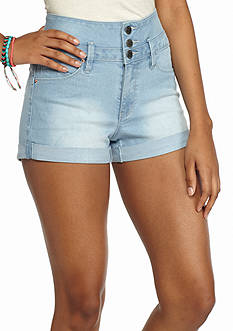 YMI High Waist Roll Cuff Jean Shorts