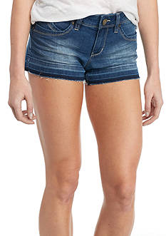 YMI Wanna Betta Butt Release Hem Medium Wash Shorts