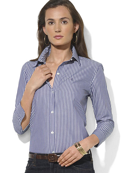 Lauren Ralph Lauren Priya Three Quarter Sleeve Shirt <br>