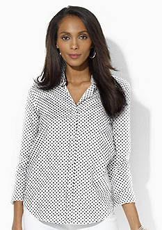 Lauren Ralph Lauren Wrinkle-Free Polka-Dot Dress Shirt