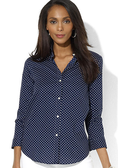 Lauren Ralph Lauren Polka-Dot Dress Shirt<br>