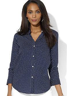 Lauren Ralph Lauren Polka-Dot Dress Shirt