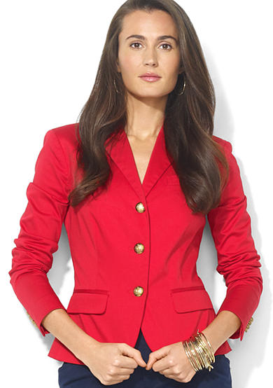 Lauren Ralph Lauren Three-Button Cotton Blazer