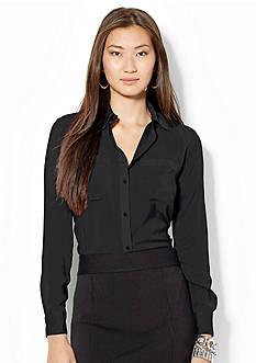 Lauren Ralph Lauren Satin Long-Sleeved Shirt