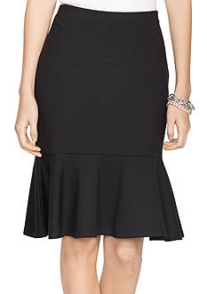 Lauren Ralph Lauren Drop-Waist Ruffled Skirt