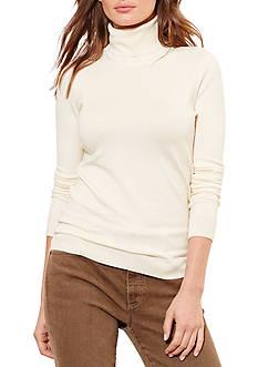 Lauren Ralph Lauren Silk-Cotton Turtleneck
