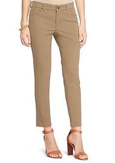 Lauren by Ralph Lauren Stretch-Twill Skinny Pants