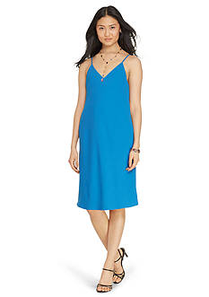 Lauren Ralph Lauren Satin A-Line Dress