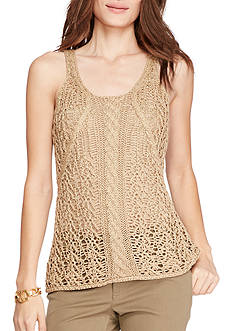 Lauren Ralph Lauren Cable-Knit Sleeveless Sweater