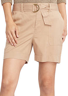 Lauren Ralph Lauren Belted Twill Shorts