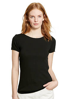 Lauren Ralph Lauren Ribbed Cotton Tee