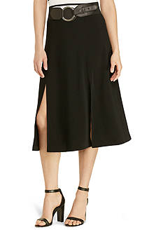 Lauren Ralph Lauren® Sueded Crepe Midi Skirt