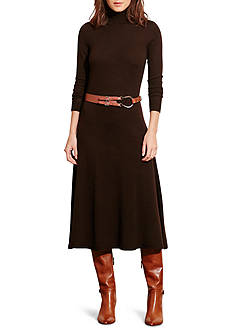 Lauren Ralph Lauren Wool Turtleneck Sweater Dress