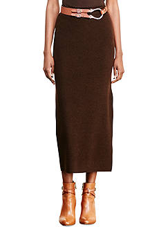 Lauren Ralph Lauren Rib-Knit Merino Wool Skirt