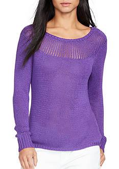 Lauren Ralph Lauren Ribbed-Yoke Sweater