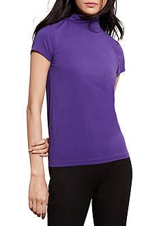 Lauren Ralph Lauren Jersey Short-Sleeve Turtleneck