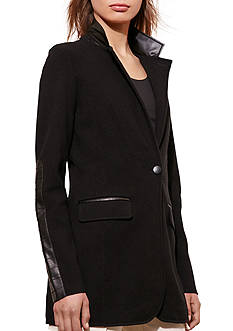 Lauren Ralph Lauren Knit Cotton-Blend Jacket