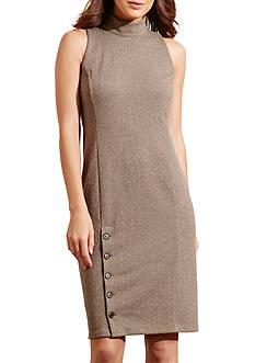 Lauren Ralph Lauren Buttoned-Skirt Ponte Dress