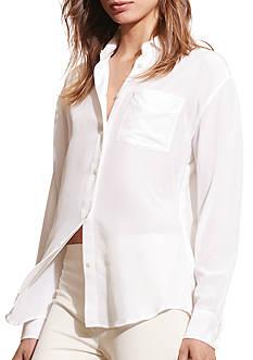 Lauren Ralph Lauren Silk Long-Sleeve Shirt
