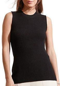 Lauren Ralph Lauren Merino Wool Sleeveless Sweater