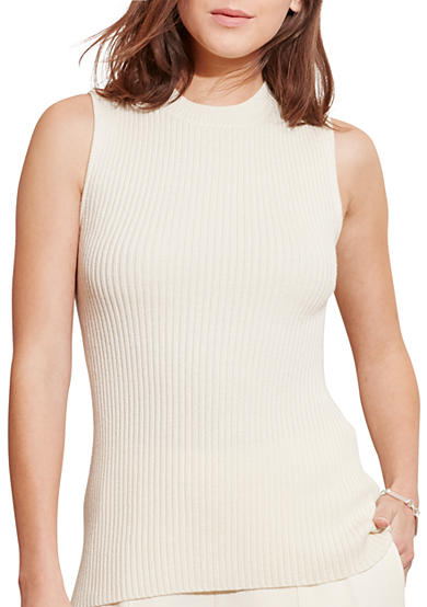 Lauren Ralph Lauren Merino Wool Sleeveless Sweater