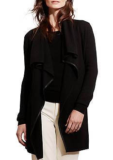 Lauren Ralph Lauren Draped Open-Front Cardigan