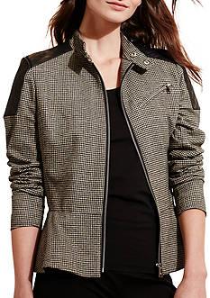 Lauren Ralph Lauren Houndstooth Peplum Jacket